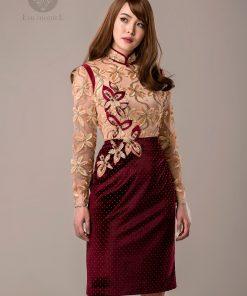 Mongolian deel blouse and skirt