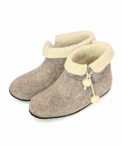 Organic felt slippers