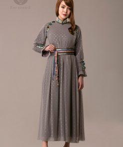 Women's Mongolian /clothing/ deel dress